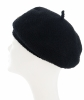 Chanel Black Wool Beret
