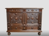 English chest with drawer, 17th century.