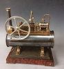 An industrial automaton - Boiler mantel clock, by A.R. Guilmet à Paris, France ca.1890.