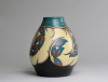 Willem Stuurman, Ceramic vase with rare decor 'Pauw', model 355, Earthenware factory Zenith, Gouda,1930s - Willem Stuurman
