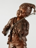 A French Bronze Sculpture of boy playing violin, signed E Carlier, circa 1880