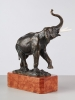A German bronze statue of an elephant, circa 1900