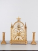 An unusual French Louis XVI clock set, circa 1780