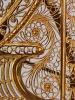An unusual French Louis XVI filigree skeleton clock set, circa 1780