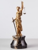 A beautiful early 20th century Viennese cold painted bronze depicting Lady Justice