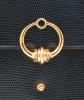 Vintage Hermès Schoudertas in Donkerblauw Hagedissenleer