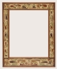 Theo Molkenboer, Art Nouveau notenhouten spiegel met batik perkament, 1899 - Theo Molkenboer