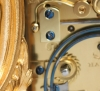 A rare French gilt Sevres mounted Rococo case carriage clock, Drocourt circa 1860
