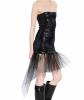 SS16 Saint Laurent Runway Black Sequined Mini Tube Dress - Saint Laurent