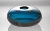 Laura Diaz de Santillana, Blue glass vase with gold foil 'Sommersi Oro', Venini, 1985 - Laura Diaz de Santillana