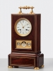 An unusual and imposing French travelling/desk clock with calender, circa 1840