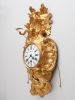 French 18th Century Louis XV bronze wall cartel clock, circa 1745