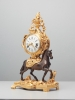 A superb French 'Transition' mantel clock, circa 1760, signed Montjoye Fils a Paris.