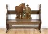 A Dutch provincial polychrome painted hall bench Farmer