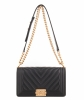 Chanel Black Chevron Quilted Medium Boy Bag