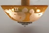 Sybren Valkema for Glass Factory Leerdam, Glass ceiling lamp with a part of the zodiac, 1947 - Sybren Valkema