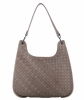 Bottega Veneta Grey Intrecciato Shoulder Bag