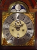 A Dutch burr walnut striking alarm longcase clock with calendar Ed Brookes circa 1725