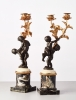 A Pair of French 'Louis XVI' figurative candelabras with putti, circa 1780