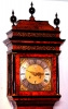 An early Dutch mulberry month going longcase clock Huygens Amsterdam circa 1700