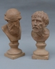Terracotta busts of Plato and Seneca by Giovanni Mollica - Giovanni Mollica
