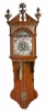 A very rare Dutch Frisian stained elmwood musical wall clock Klaas Andriese circa 1810