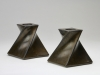 Jan van der Vaart, Twee brons geglazuurde kandelaars, 1976 - Jan van der Vaart