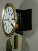 A good French Morbier iron and brass wall regulator circa 1860
