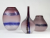 Alfredo Barbini, Elegante paarse 'Scavo' fles, Murano, ontwerp jaren '60 - Alfredo Barbini