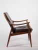 Peter Hvidt & Orla Mølgaard-Nielsen for France & Son, teak armchair with leather upholstery, model 148, 1953 - Peter Hvidt