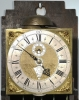 An attractive Dutch Amsterdam walnut striking wall clock, Jacob Gelijn Amsterdam, circa 1725