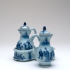 A Delft Blue Oil and Vinegar Set