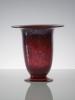 C.J. Lanooy, Leerdam Unica, Rode beker op voet, 1927 - Chris (C.J.) Lanooy