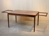 Johannes Andersen for Christian Linneberg, Rosewood dining table (with two additional table leaves), Denmark, 1960s - Johannes Andersen