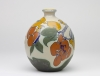 Theo Colenbrander for Plateelbakkerij Zuid Holland, Ceramic vase with butterflies and plums, ca. 1912-1913 - Theodoor (T.A.C.) Colenbrander