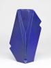 Jan van der Vaart, Blauw geglazuurde geometrische vaas, multipel, 1991 - Jan van der Vaart
