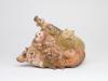 Heidi Daamen, Keramische sculptuur met voorstelling van mens en dier, jaren '70 - Heidi Daamen - Meijer
