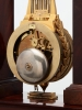 A rare French mahogany and bronze oscillating mantel clock, circa 1830