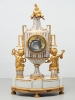 Rare French porcelain and gilt bronze mantel clock by Godon, circa 1785