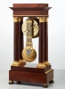 A French mahogany regulator 'portico' mantel clock by Montassier, circa 1820