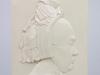 Bertha Thoe Schwartzenberg, 'Koopvrouwtje', plaquette van geglazuurd keramiek, uitvoering Hilversumsche Plateelbakkerij - Bertha Thoe Schwartzenberg en Hohenlansberg