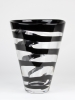Frans Molenaar, Glass Factory Leerdam, Clear vase with black spiral, 1994 - Frans Molenaar