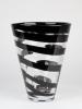 Frans Molenaar, Glass Factory Leerdam, Clear vase with black spiral, 1994 - Frans Molenaar