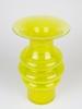 Jan van der Vaart, Unique tall yellow vase, Glass Factory Leerdam, execution by Henk Verwey, 1994 - Jan van der Vaart