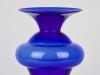 Jan van der Vaart, Leerdam Unica, Blauwe glazen vaas, uitvoering Henk Verwey, 1994 - Jan van der Vaart