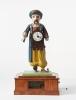 A German wooden animated clock figure, circa 1840.