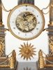 A French Louis XVI grey marble mantel clock by Cellier, circa 1770