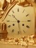 A large French Empire bronze 'Horatius' mantel clock, circa 1820