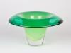 Floris Meydam, Unique green glass bowl, Glass Factory Leerdam, 1987 - Floris Meydam