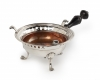 Silver brazier with ebony handle and copper bowl